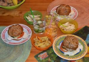 Burger s hranolkami