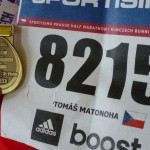 Sportisimo 1/2Maraton Praha 2014 - moje číslo a medaile