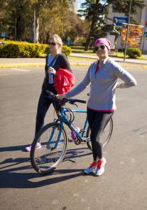 běh a jízda na kole
