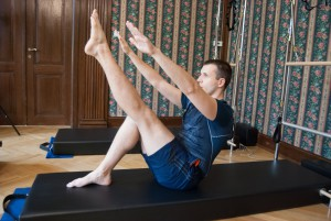 "Pilates cvik ""Single leg teaser"""