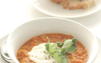 red lentil & preserved lemon soup